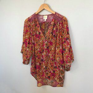 Anthropologie Fig & Flower Dolman-style Blouse (L)